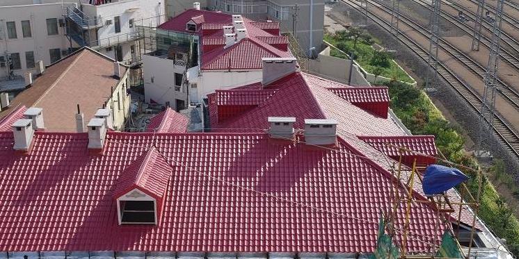 合成树脂瓦,城镇平改坡工程,屋面仿古瓦